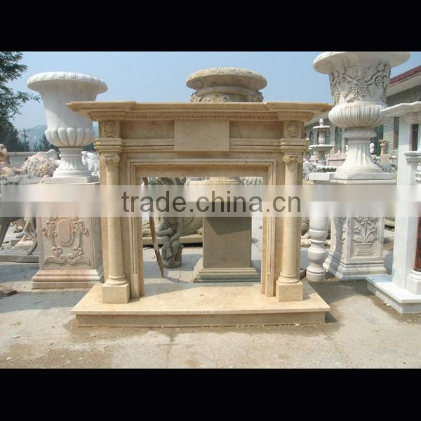 Classical fireplace stone decoration