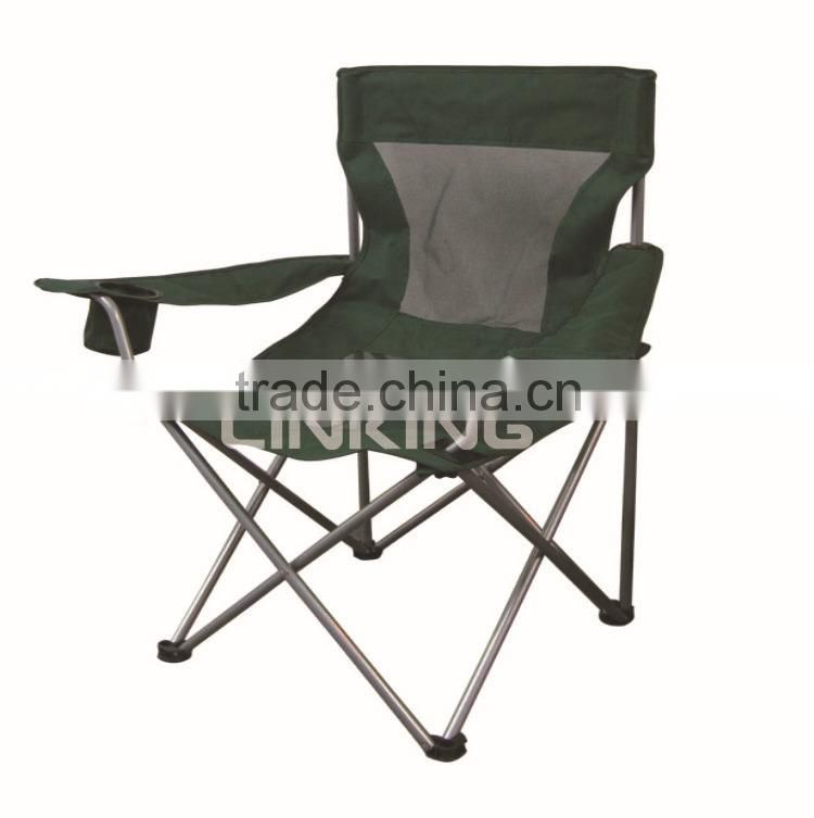 army green polyester chair with mesh
