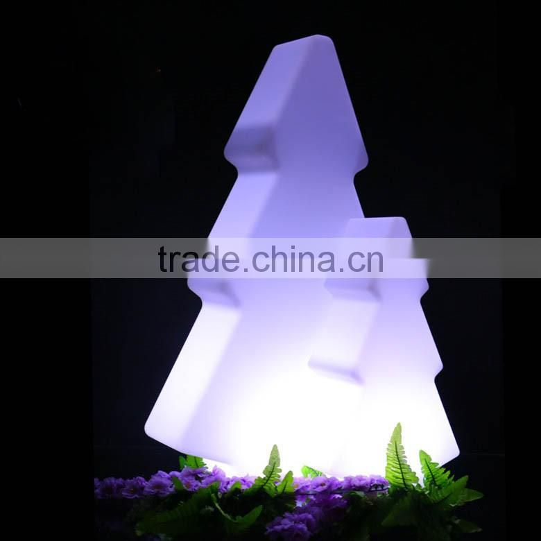 lighted Christmas cone tree with 16 color
