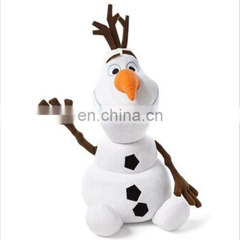 Snowman plush toy with smile chiristmas day gift for kids custom stuffed toy , snoman plush toy