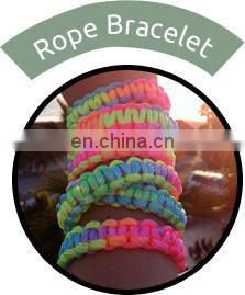 Smooth Supreme Finish Colorful Silk Rope Bracelet at Discounted Rate