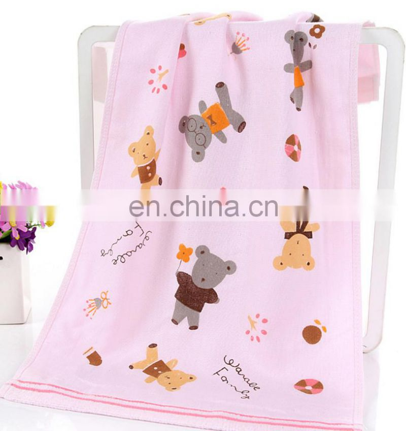 China factory 100 cotton cute printed hand towel custom cheap price towel printing