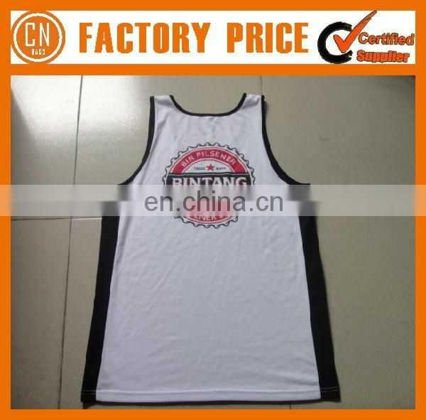 Customized Logo OEM Designed 100% Cotton Singlet