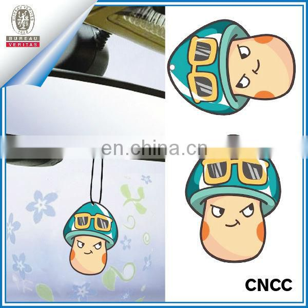 Cartoon hanging car paper air frshener for decoration