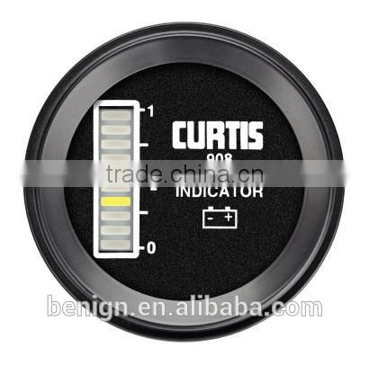 Curtis Battery State-of-Charge (BSOC) Instrumentation model 908R for use in electrically powered vehicles