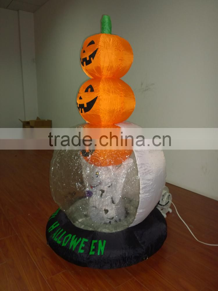 DJ-XT-52 Haunted Inflatable Halloween with ghost raise three pumpkins for Commercial Use