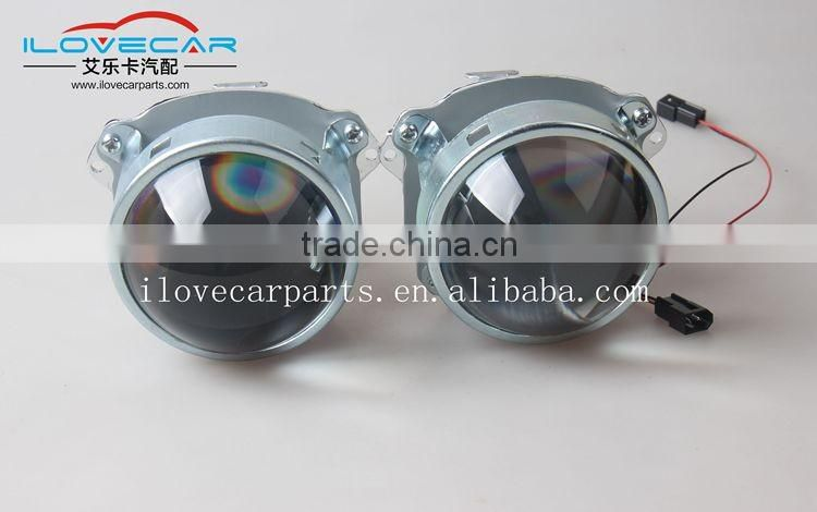 Manufactory price 3inch projector lens /high temperature resistance Projector Lens with iron bracket /HID xenon headlight