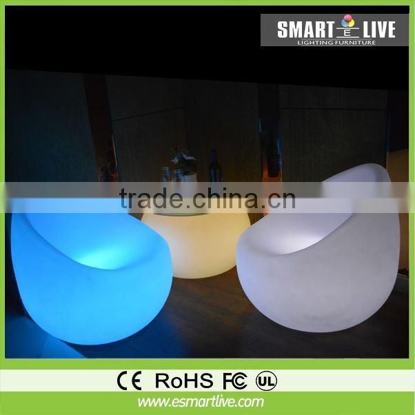 Colors Changing Bar Lighting Furniture Elegant Sofa Chair With LED