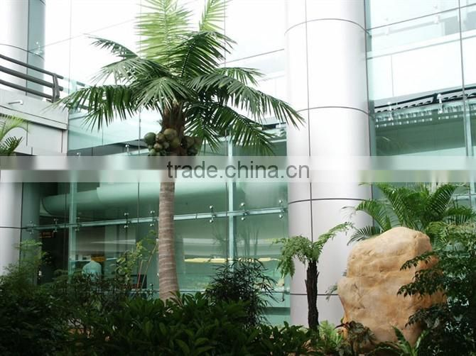 Home garden edging decorative 5ft to 16ft Height outdoor artificial green plastic palm trees EDS06 0839