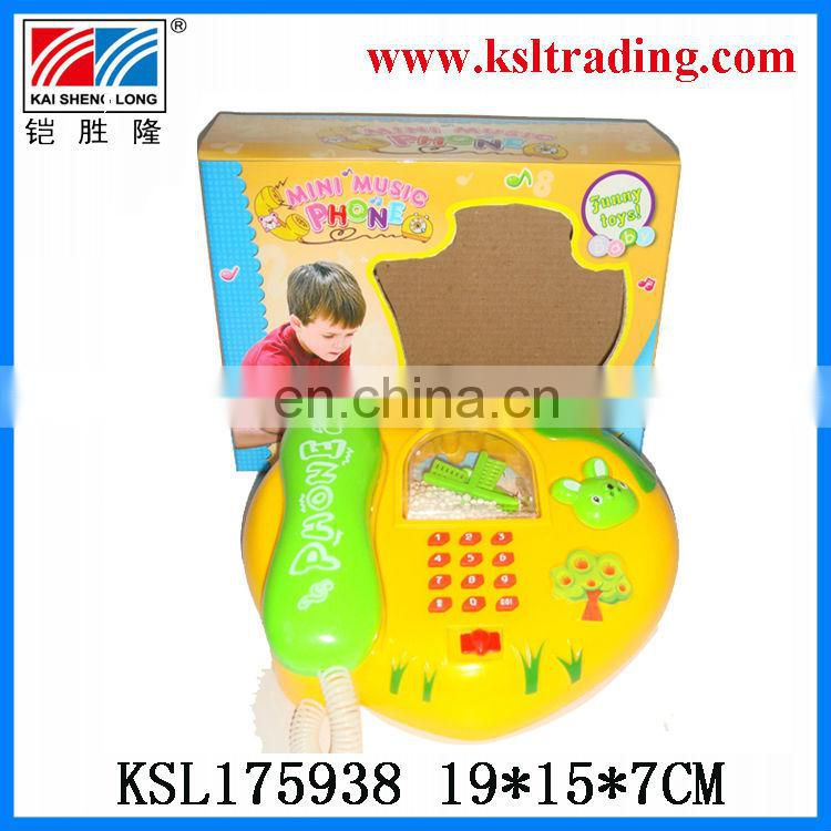 mini music snowflake plastic phone toy for sale