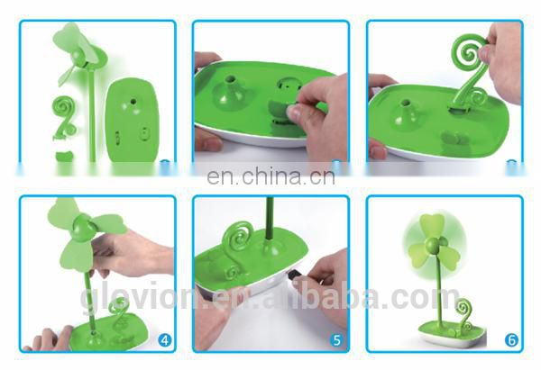 Hot sale USB clover shape table fan