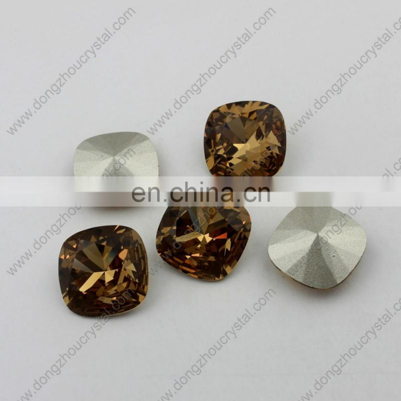 square shape Pointed back glass crystal fancy stones for diy design decoration