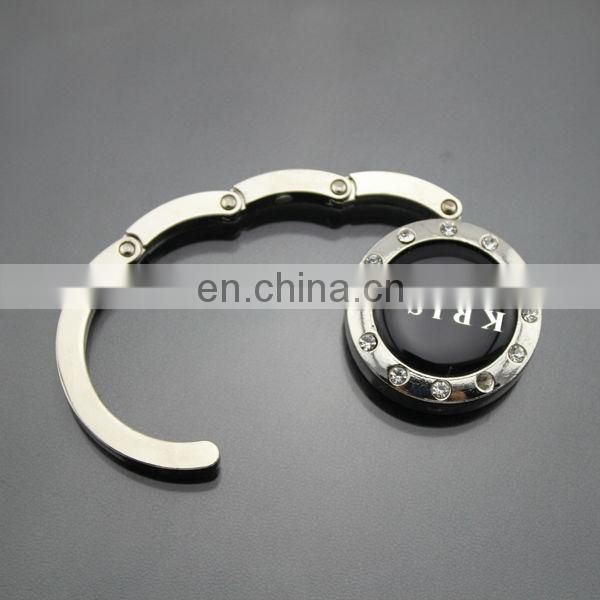 Good quality foldable bag hanger for stroller for hospital with stud
