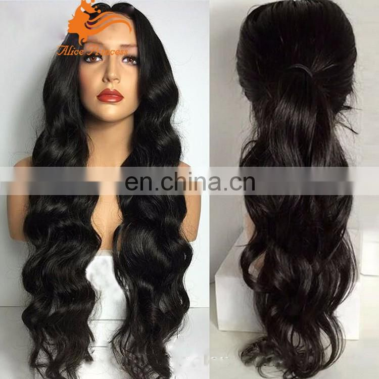 Brazilian wave 100% Brazilian wavy loose deep curl human full lace hair wig