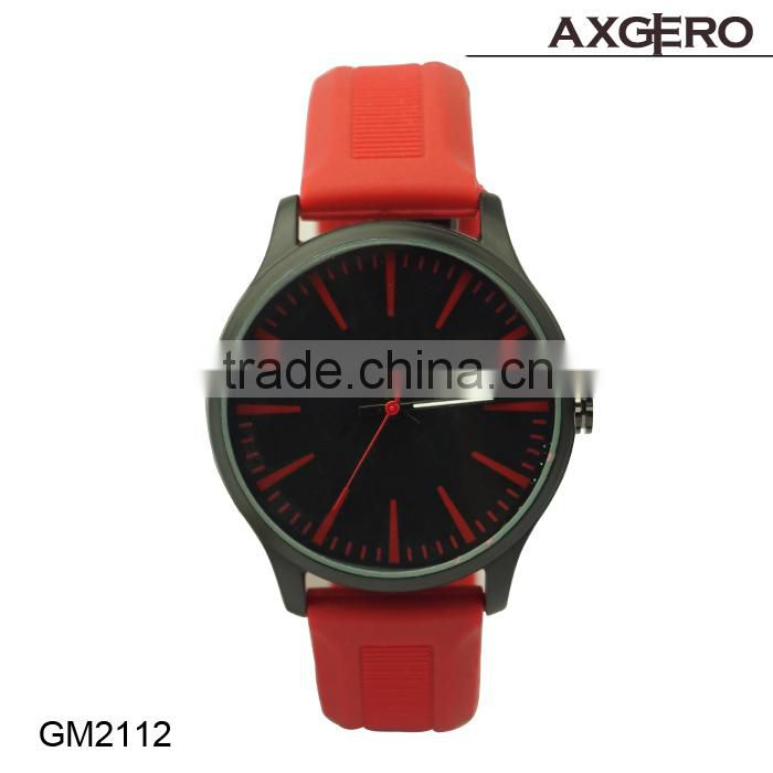 Rubber band watch silicone rubber watch!! Hot selling quartz movt silicone rubber watch for women!!