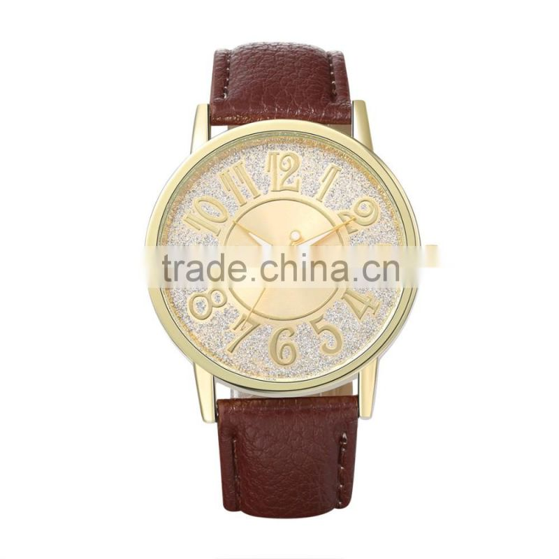 Fashion women brown watches lady watch