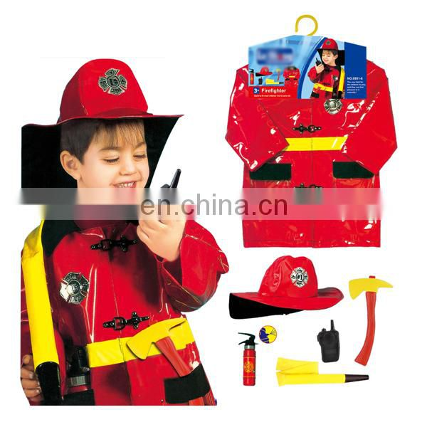 Good design boys firefighter costume kids cosplay suit for sale