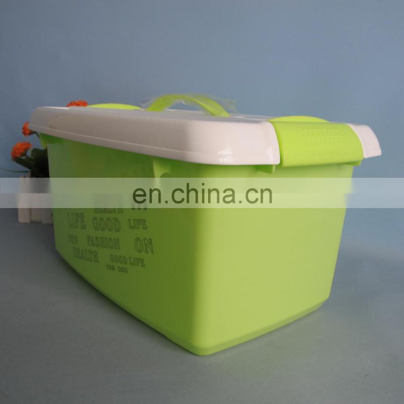 2014 new product plastic storage box with handle