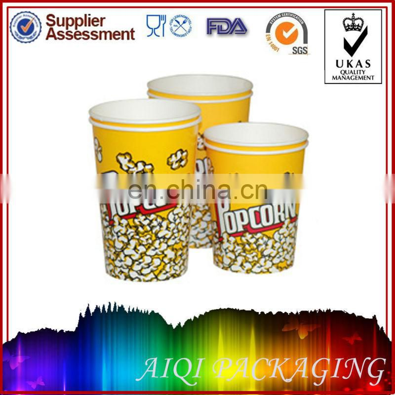 70oz eco-friendly customized printed popcorn cups and buckets