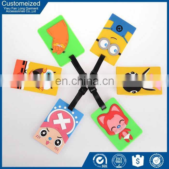 Professional Manufacture China supplier Recycled rubber luggage tag