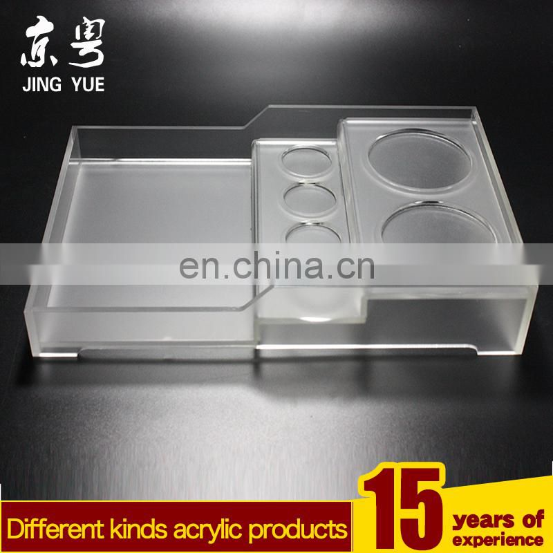 Frosted Clear Hotel Use Pmma Plexigl Acrylic Cup Toothbrush Holder With Drawer
