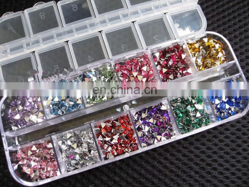 Rhinestones Nail Art Case Assorted Designs for Acrylic Tips UV Gel Deco