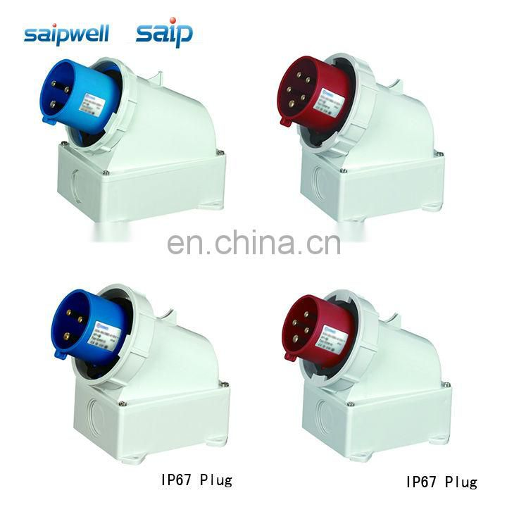 Saip Group CEE/ IEC International Standard industrial plugs and sockets 3 poles / 16A / 110VAC outside installation type