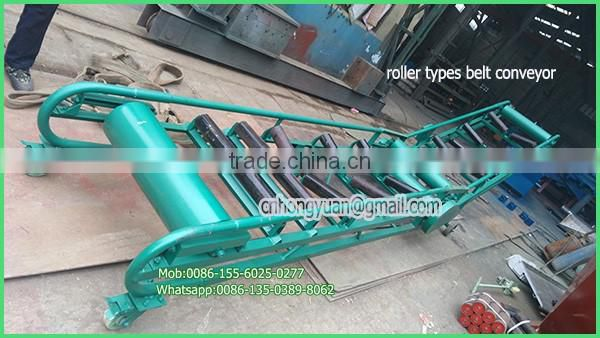 container discharging pellet used belt conveyor for truck loading