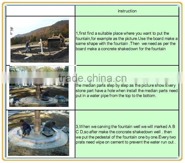 Costomize outdoor marble water fountain for decoration NTMF-006LI
