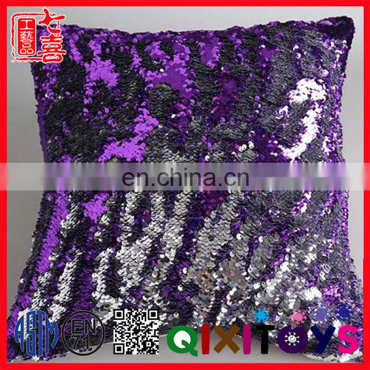 Wholesale sequin pillow DIY reversible sequin emoji pillow