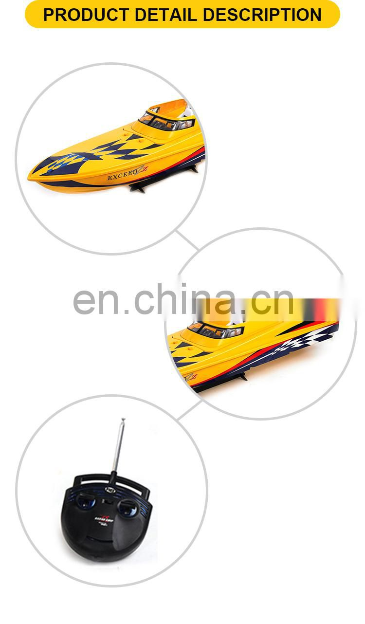High speed 3 channel remote control plastic boat toy