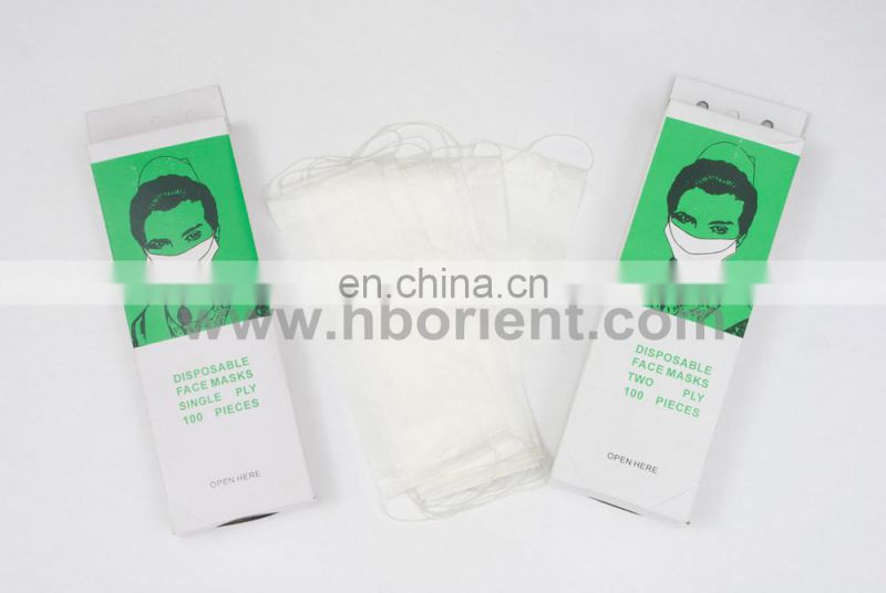 Food industry dustproof 2ply paper face mask with earloop
