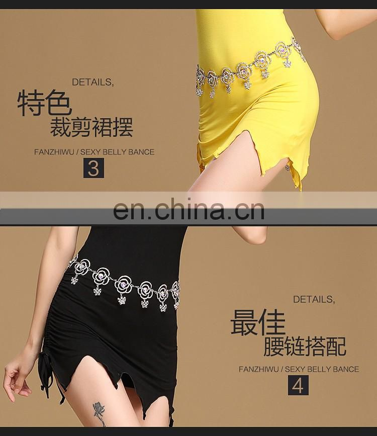 T-5160 Sexy fancy designer belly dance short skirt