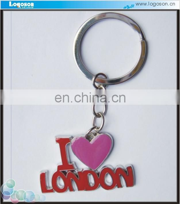color painted embossing bone shape keychain
