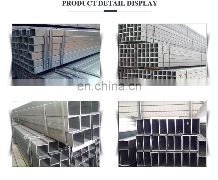 rectangular hollow section seamless pre-galvanized steel pipe