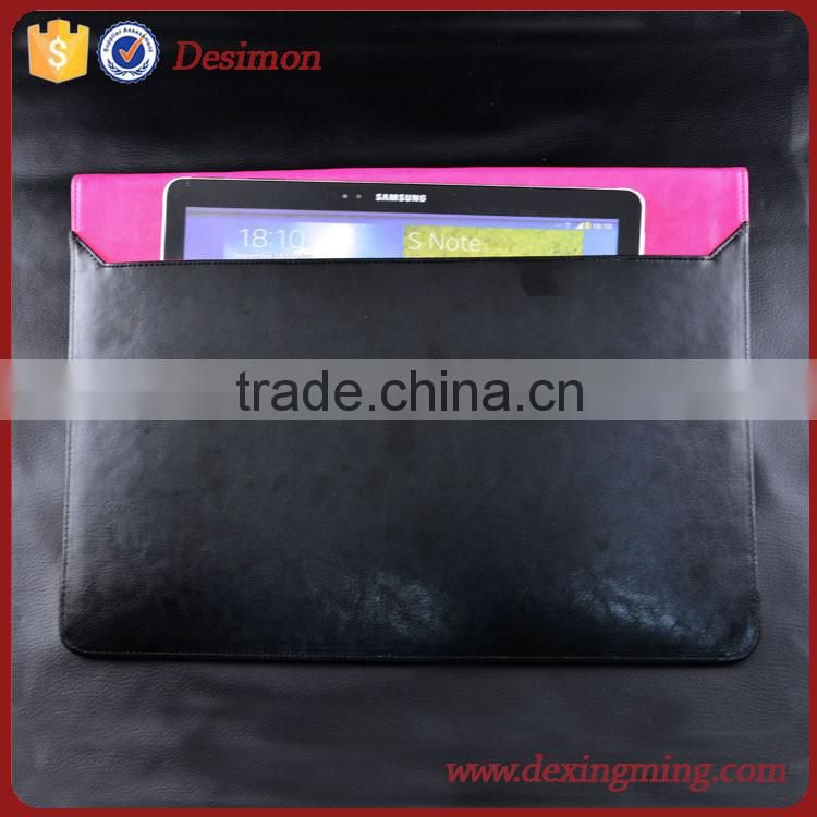 7 inch leather tablet sleeve/minion case tablet sleeve hoster/custom tablet pc sleeve pouch