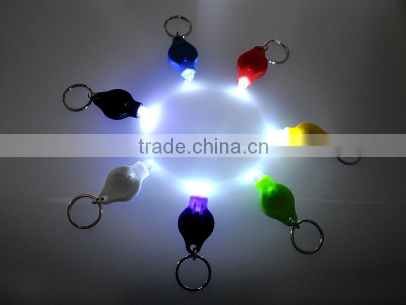 high quality Plastic 40000mcd White light LED promotion key chain factory