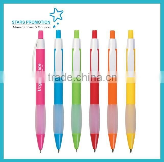 bright series plastic ballpoint pen with muti size