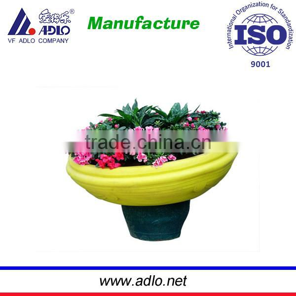 LLDPE flower pot suitable for temporary or permanent virescence of street ,park and uptown