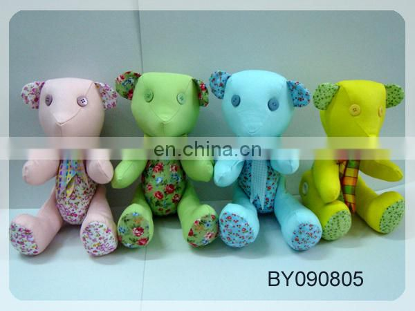 joint bear ,10 cm teddy bear plush toy .high quality teddy bear