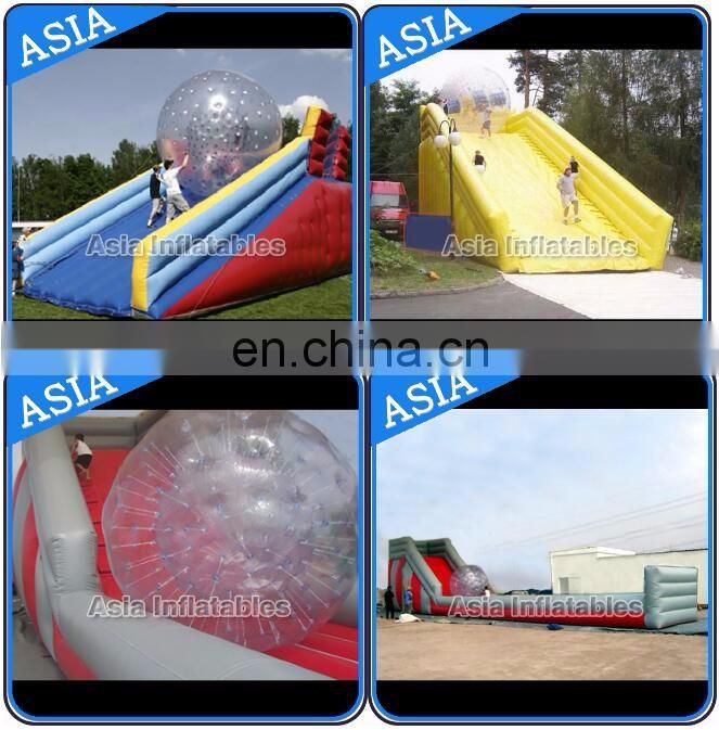 Giant bowling ball rack zorb anes PVC zorb alley Inflatable zorb ball ramp