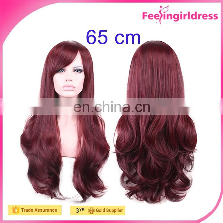 Women Beauty Costume Long Straight Cosplay Wig Human Hair Wig
