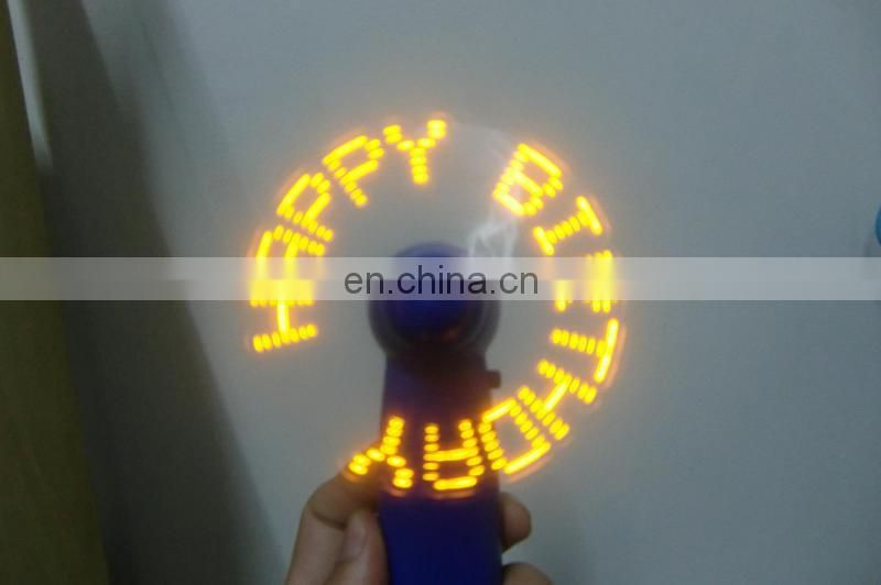 Summer fan MINI handy fan LED message fan