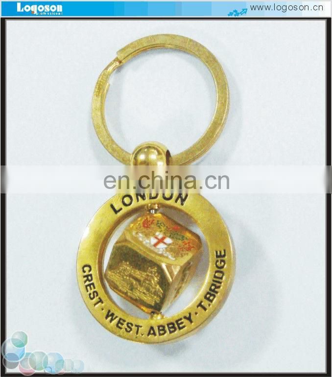 personalized metal souvenir spinning keychains
