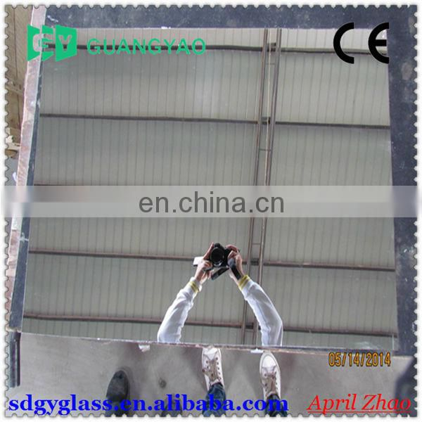 high quality normal size 1.3mm clear sheet glass for making car side mirror
