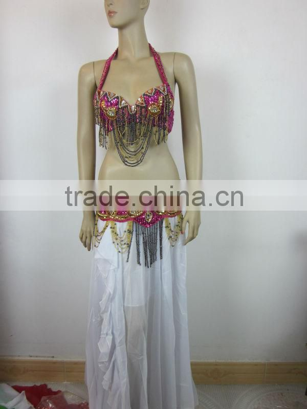 beautiful red belly dance costume wholesale (XF-051)