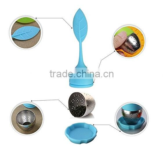 100% Food Grade Silicone Tea Infuser Metal Tea Bag Infuser
