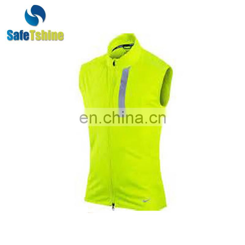 Simple design reflective security warning running vest
