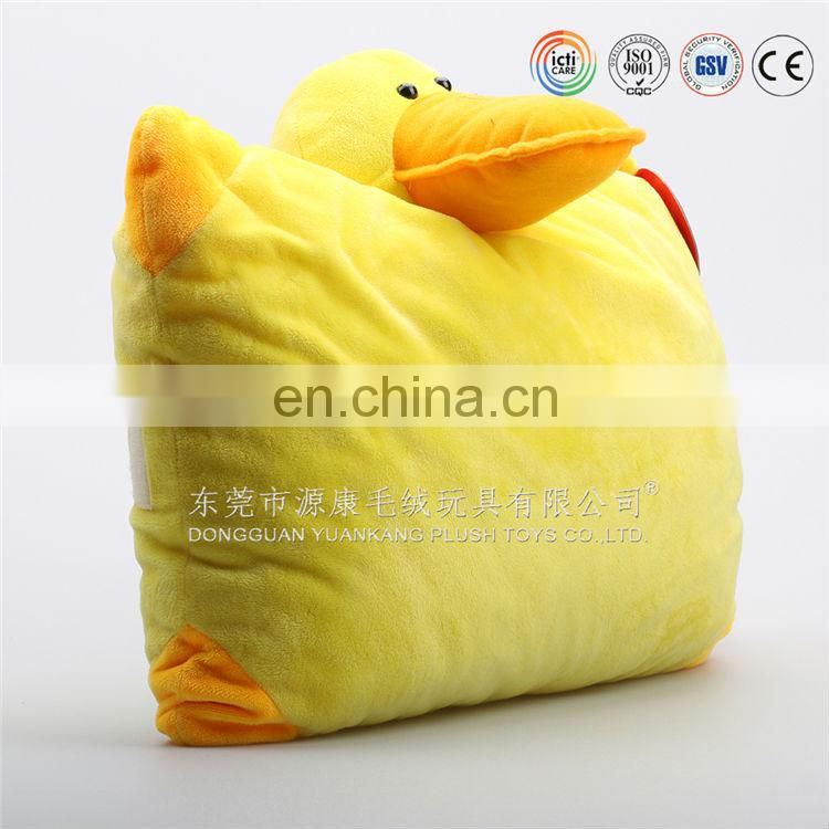 2015 Hot sell plush duck animal shaped cushion