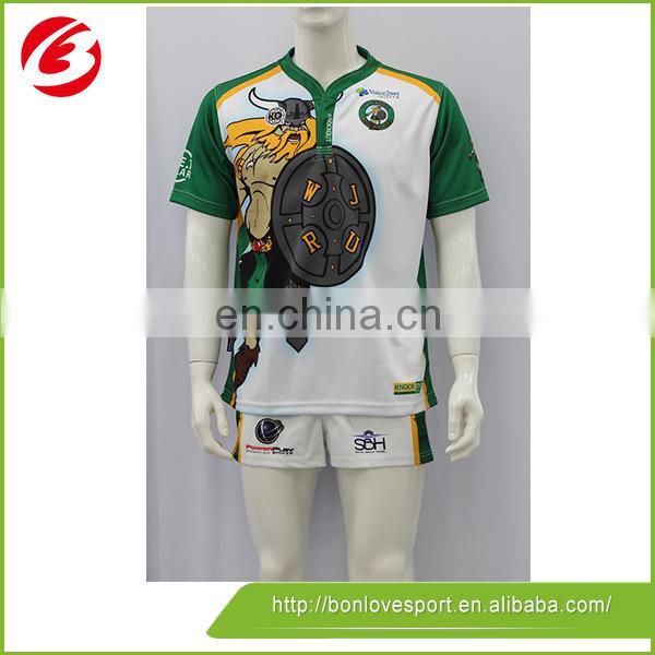Wholesale China Professional Custom Sublimation Rugby Shirts